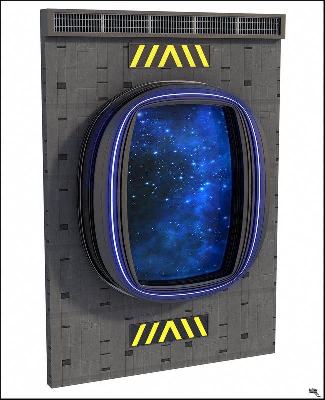 sci-fi window 3D model