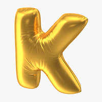 Foil Balloon Letter K Gold