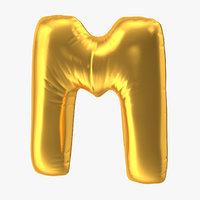 foil balloon letter m model