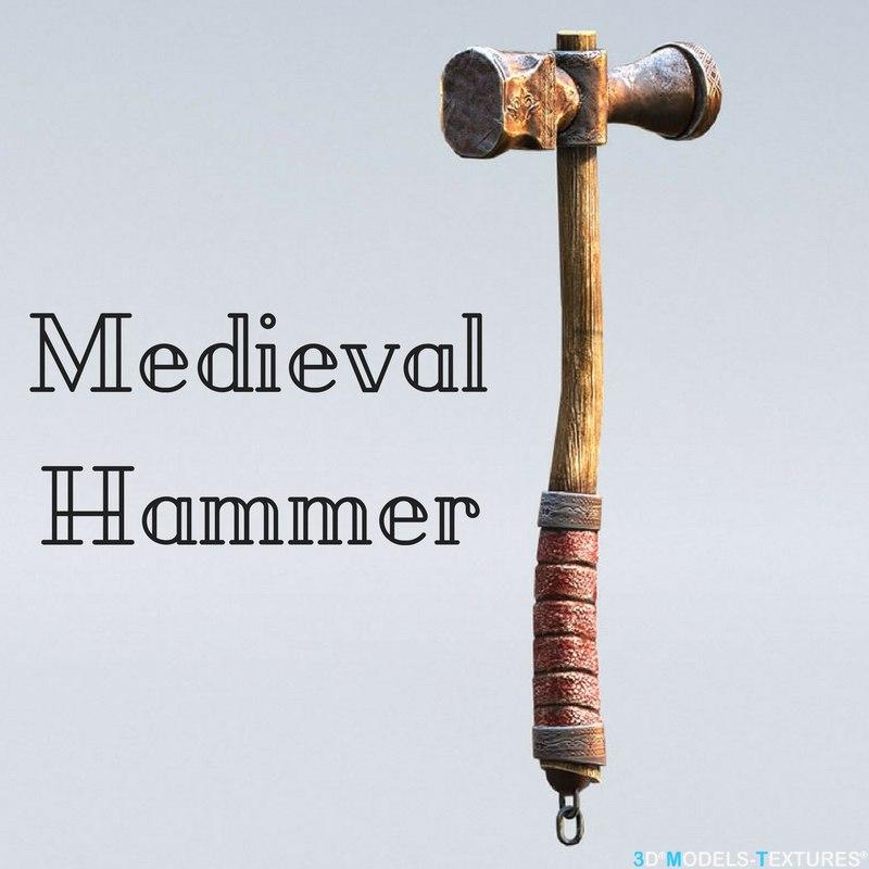 3D medieval hammer