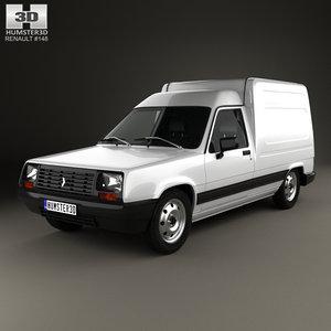 3D renault express 1985 model