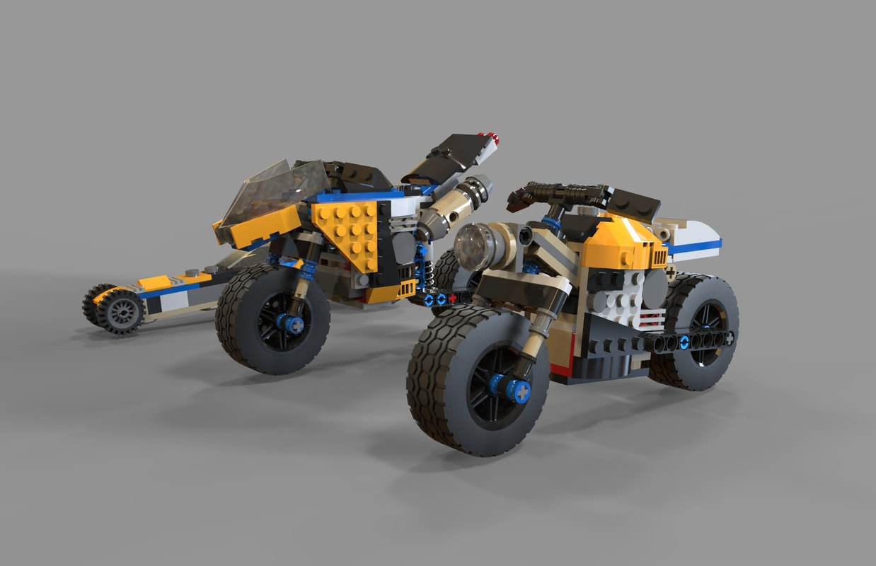 lego motorcycles pack 2 3D model
