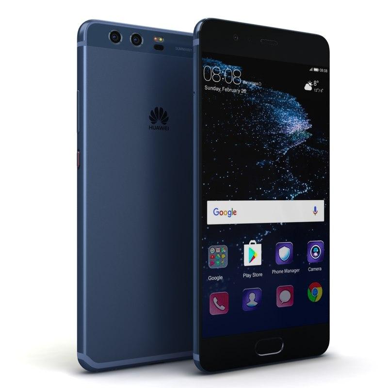3D huawei p10 dazzling blue