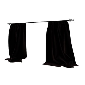 velvet curtains 3D model