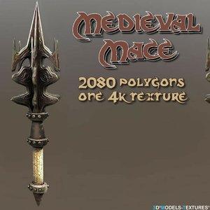 3D medieval mace