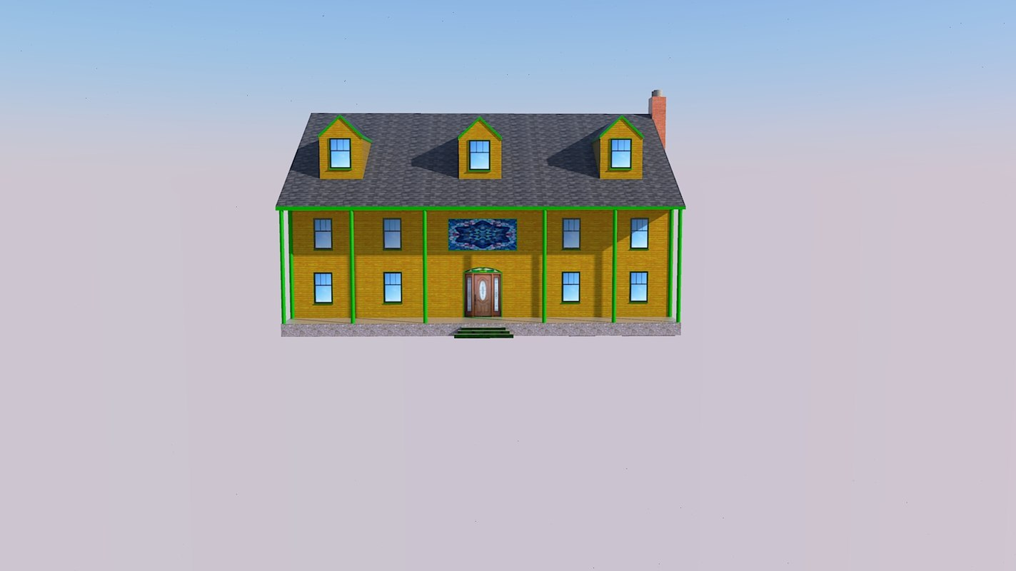 3D nice inn wood siding model
