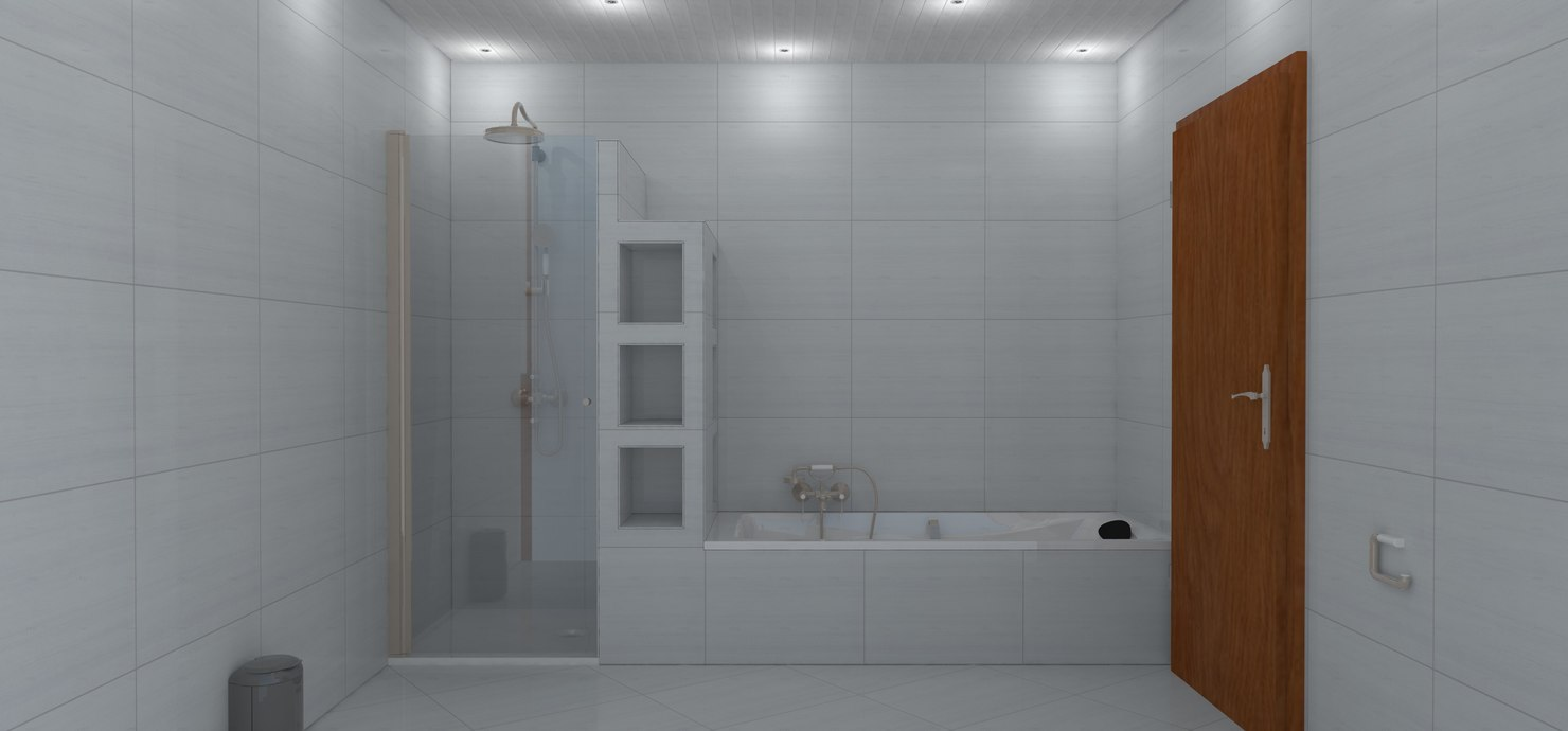 build bathroom 3D model