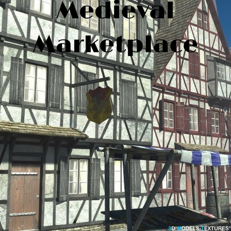 medieval market 3D model