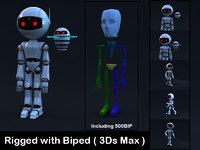 Robot Rigged with Biped