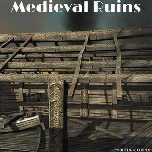 medieval ruins 3D