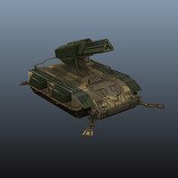 3D model mobile artillery