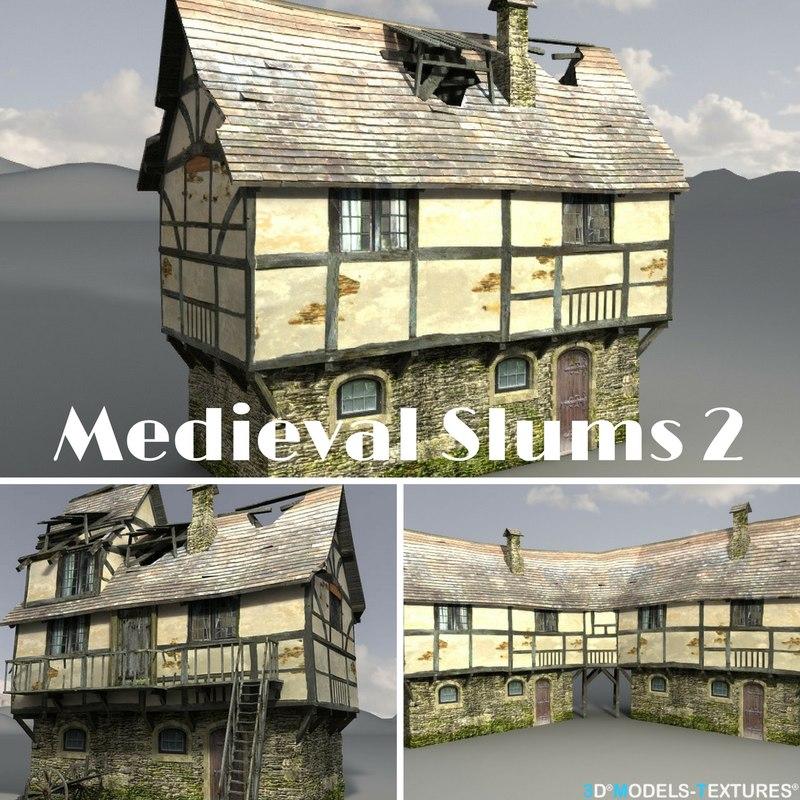 3D medieval slums