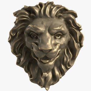 mascaron lion head mold 3D model