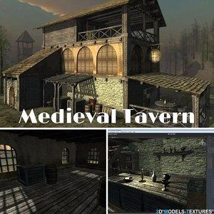 medieval tavern model