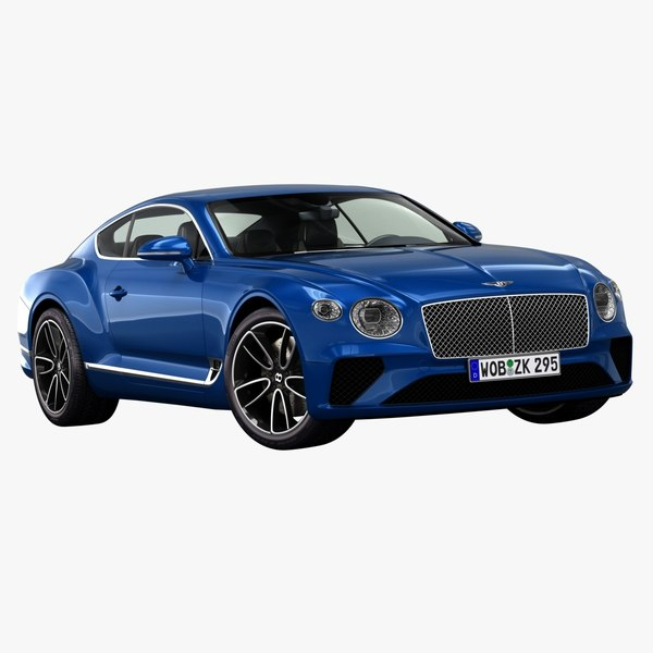 3D 2018 bentley continental gt