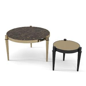 3D model lognhi table set