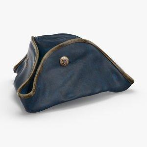 3D tricorn-hat