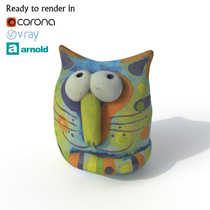 statuette cat model