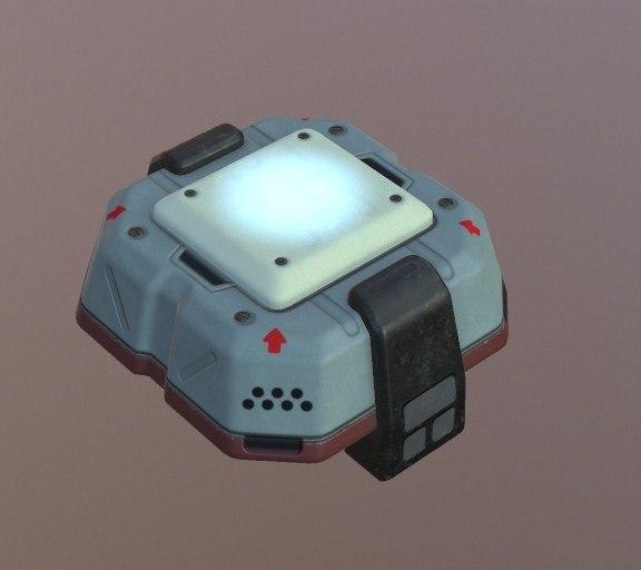 lamp sci fi 3D model