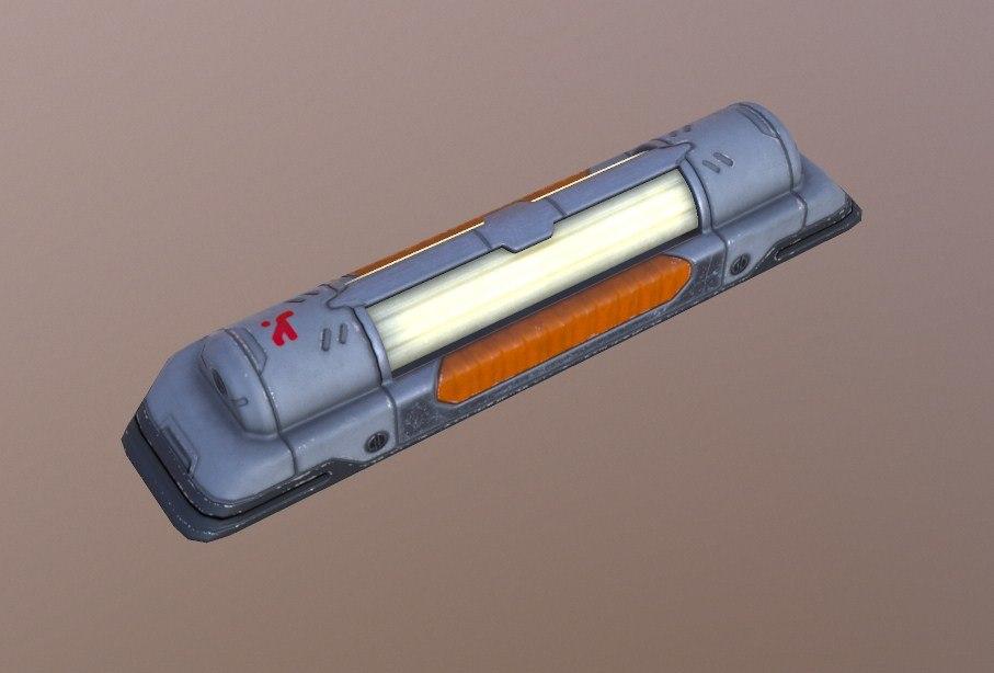 3D lamp sci fi model