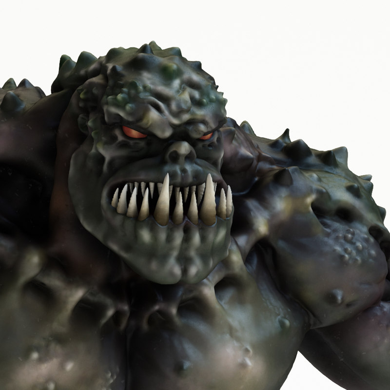 3D green monster model