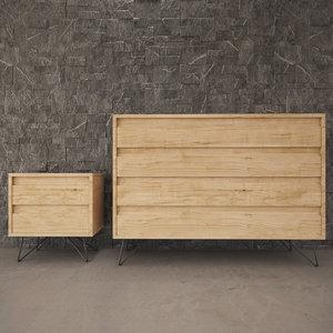 chest drawers scene 3D model