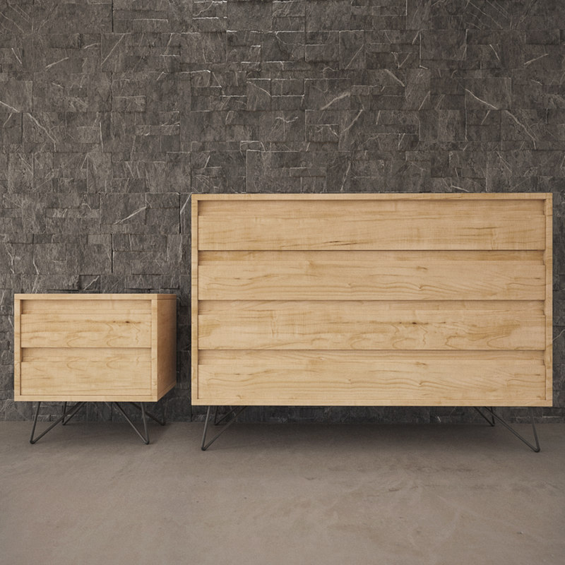 chest drawers scene 3D model