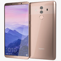 realistic huawei mate 10 3D model