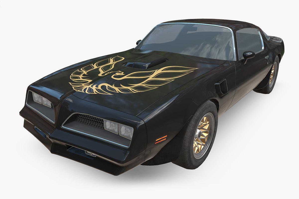 3D pontiac firebird 1977