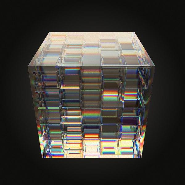 3D glass sculpture model