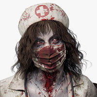 Character Zombie Nurse PBR Rigged