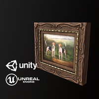 Antique Painting - PBR Game Ready