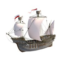 3D hansa caravel model