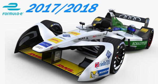 3D model formula e audi sport