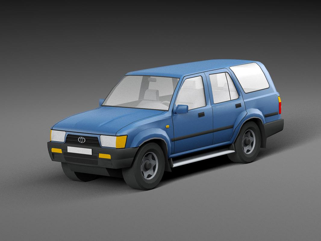car low-poly 3D