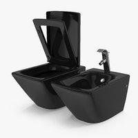 3D wall toilet bidet