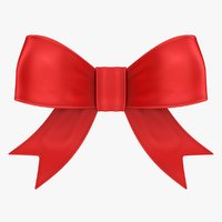realistic ribbon bow 3D model