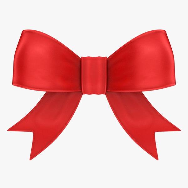 realistic ribbon bow 3D model
