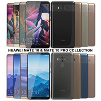 3D realistic huawei mate 10 model
