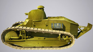 3D old tank