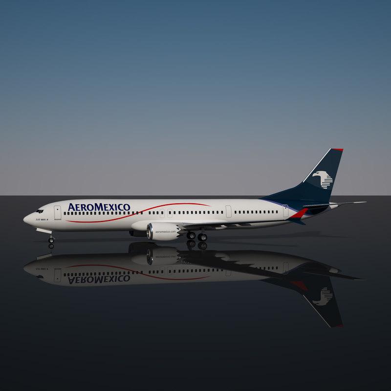 aeromexico 737 - 9 3D