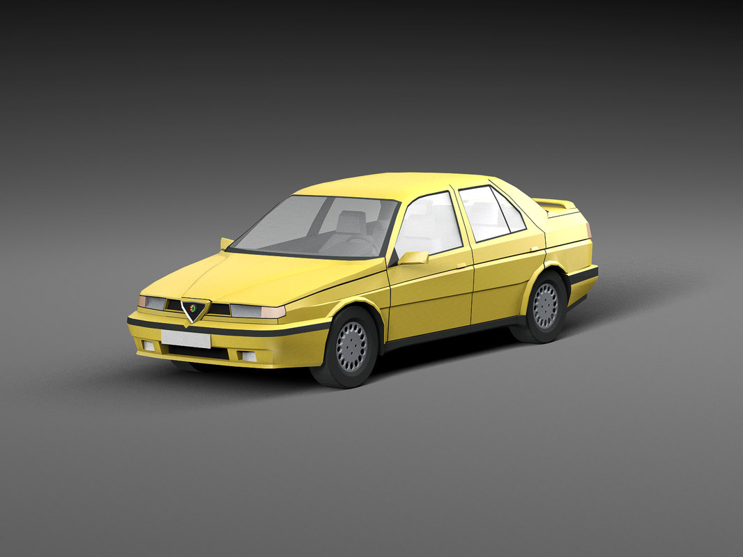 3D car low-poly model