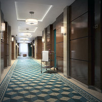 3D hotel corridor