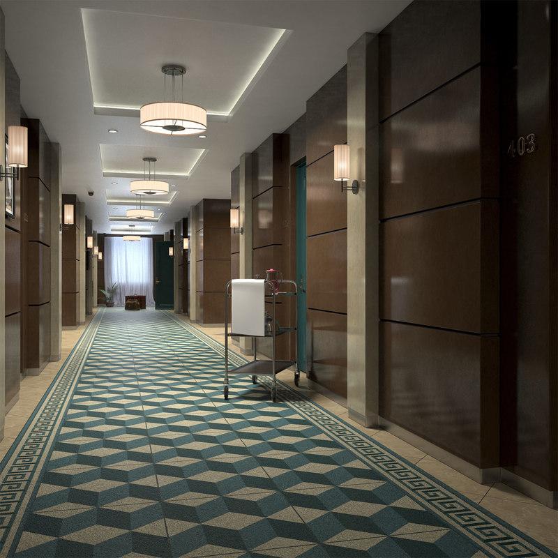 3d hotel corridor turbosquid 1215006 for Hotel designer