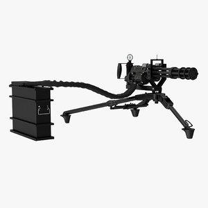 minigun m134 tripod mount 3D