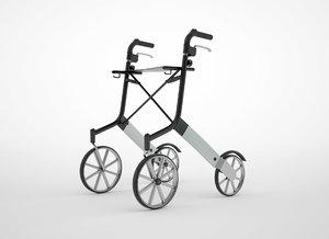 walker rollator 3D model