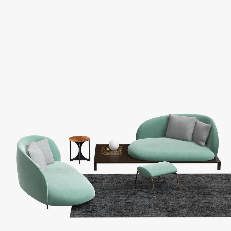 bonsai sofa 3D model