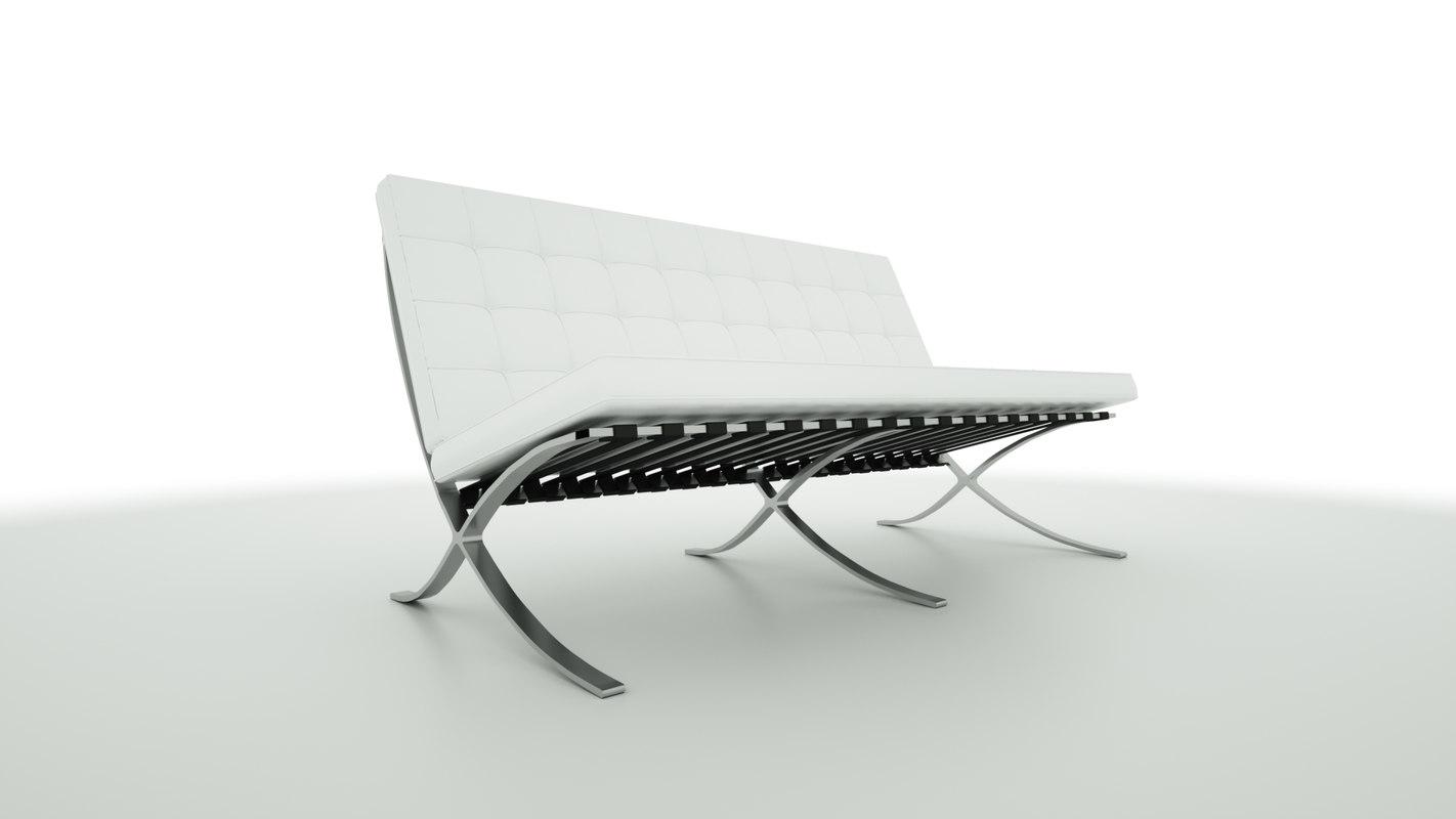 3D barcelona sofa