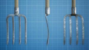 garden pitchfork 3D