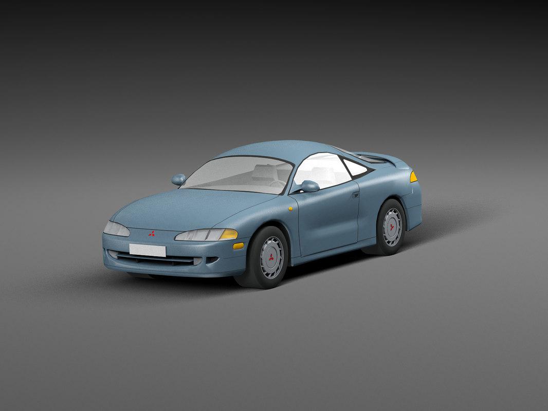 3D car low-poly model